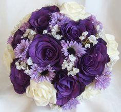 Wedding Flowers Purple And Ivory