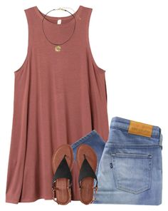 """""""Kinda summery but o """" by pineappleprincess1012 ❤ liked on Polyvore featuring RVCA, Levi's Made & Crafted and Aéropostale"""