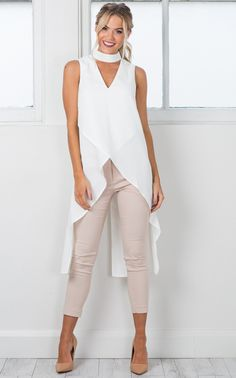 Devils Advocate Top In White Produced - Outfits for Work - Business Attire Summer Business Attire, Formal Business Attire, Business Professional Attire, Business Casual Outfits, Business Fashion, Business Women, Look Fashion, Fashion Outfits, Street Fashion