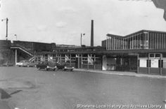 PH/17/2/71 Black and white photograph showing entrance to Shaw Street railway station, St.Helens c.1960s. . . . PH - Photographic collections 17 - Photographic collections that were created by individual depositors 2 - Black and white photographs showing various streets and buildings in St.Helens