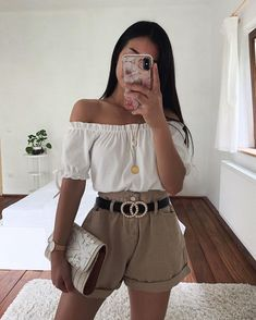 Pin on Thanya's Outfit Casual Summer Outfits, Simple Outfits, Pretty Outfits, Stylish Outfits, Spring Outfits, Preteen Fashion, Teen Fashion Outfits, Fashion Fashion, Teenage Girl Outfits