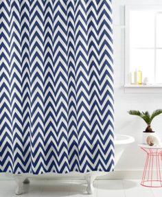 Kassatex Bath Accessories, Chevron Shower Curtain $34
