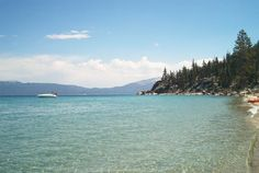 Round Hill Pines public beach, South Lake Tahoe. Plenty of beach, plus jet skis, tubes, parasailing, and a bar and grill. Bring a picnic for this scenic beach, no one will want to leave for lunch! $8 to park, no entrance fees.
