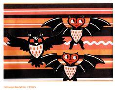 halloween decorations c.1960s