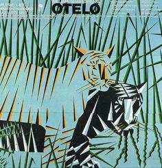 Boris Bucan werd in 1947 geboren in Zagreb. Hij studeerde af aan de Academie voor Schone  Kunsten in Zagreb in 1972. Zij artistieke praktijk omvat tekeningen, afbeeldingen en grafisch ontwerp.  kaart 16 x 16 cm Jaar 1983. titel: Otello
