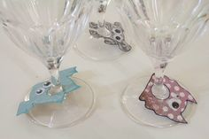 Paper wine Glass Charms