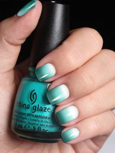 ombre green nail designs
