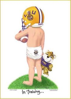 In Training LSU Tigers Football Players Art Print