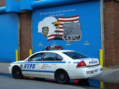 P043s Garage at NYPD Police Station Precinct 43, Parkchester, Bronx, New York City by jag9889, via Flickr shared by NY Firestore