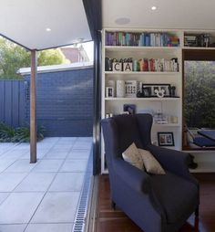 living room with sliding doors to patio