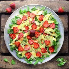 image Caprese Salad, Fruit Salad, Cobb Salad, Avocado, Potato Salad, Dressing, Mango, Potatoes, Ethnic Recipes