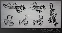 Tribal Scorpio Tattoos Designs