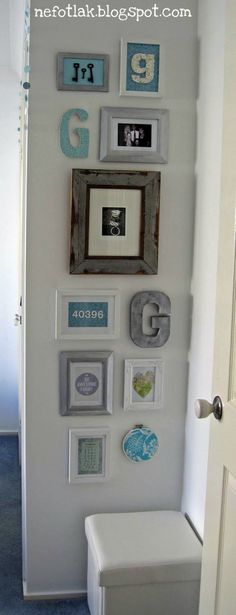 A wall of letters, zip code , and keys ....how neat!!! {Wall Decor} {Photo Display Ideas} {Home Decorating Ideas}