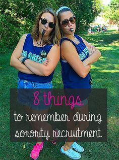 8 Things to Remember During Sorority Recruitment