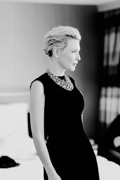 Cate Blanchett behind the scenes Oscars 2015.