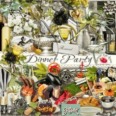 A beautiful food/entertaining themed scrapbook collection from Raspberry Road Designs.