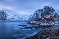 North feeling - A classic from the Northern countries: Fisherman's cabins at sunrise (Lofoten Islands)