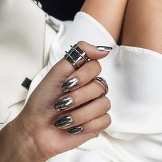 Killer Chrome Nails