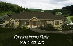 images of midsize country craftsman split bedroom house plan with open floor plan, ideal for downsizing, view images to easily visualize this home plan with house plan views. 3d House Plans, Porch House Plans, Bedroom House Plans, Back Porches, Open Floor, Craftsman, Ms, Floor Plans, Cabin