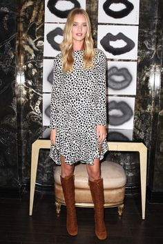 Rosie Huntington-Whiteley Print Dress - Rosie Huntington-Whiteley Looks - StyleBistro
