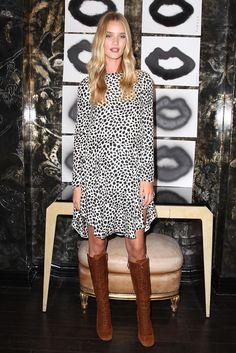 Rosie Huntington-Whiteley Print Dress - Rosie Huntington-Whiteley Looks - StyleBistro