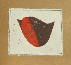 Lino Print Robin Christmas Cards