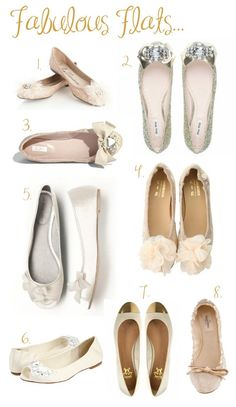 Alright ladies, get ready to ditch the stilettos for a pair of fabulous wedding flats. They are a great idea for both the bride or bridal pa. Ballerinas, Bridal Shoes, Wedding Shoes, Cute Shoes, Me Too Shoes, Dressy Flats, New York Wedding, Pumps, Heels