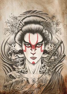 Kabuki Geisha #cultural #tattoo #tattoos