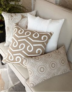 a touch of elegance for any living room - beautiful pillow! #home #decor