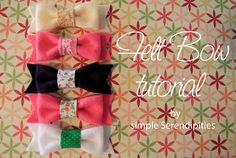 felt hairbows.--I just made one for Ryan--they turned out pretty cute and easy to do!  I think I might make more!