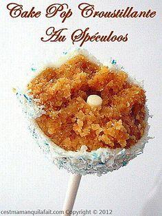 CAKE POPS AU SPECULOOS CROUSTILLANTES CAKE POP RECETTE DE BASE