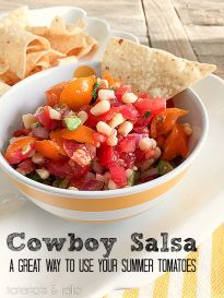 Cowboy Salsa Recipe! An easy and delicious way to use fresh tomatoes!