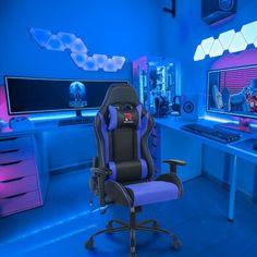 Computer Gaming Room, Gaming Room Setup, Gaming Chair, Gaming Rooms, Desk Chair, Cool Gaming Setups, Computer Center, Computer Projects, Gamer Setup