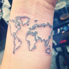 World Map Tattoos Design