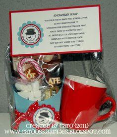 Snowman Soup - Teacher appreciation Christmas presents