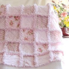 Baby Rag Quilt Pink Rose   Would love a non baby version of this rug : ))
