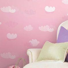 Papel de parede Nido Infantil 8705-2 Nuvens Rosa - Site de tecidos para sofá, cortinas, papel de parede e móveis