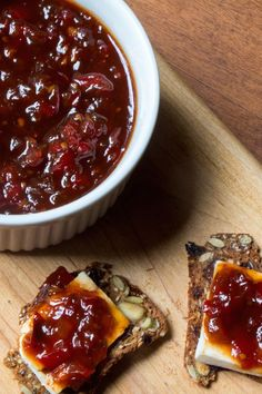 Red peppers, tomatoes, garlic, and onions all come together in this spicy jam by The Wimpy Vegetarian. #SundaySupper