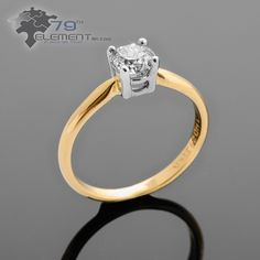 Lovely engagment ring with diamond.
