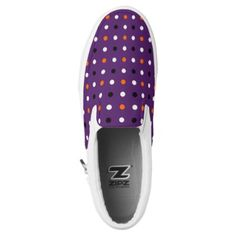 polka dots halloween pattern Slip-On sneakers - patterns pattern special unique design gift idea diy