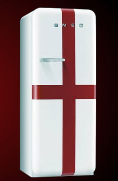 Smeg England Style FAB28QSG retro fridge. This compact 50's style refrigerator has ice box and proudly shows St Georges flag. The stylish 25...