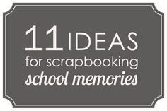 school scrapbook page ideas