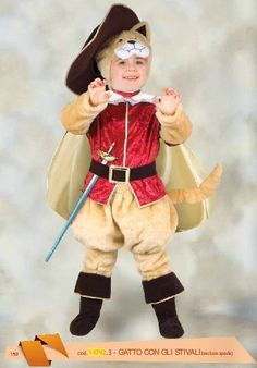 Disfraz de gato con botas para niños
