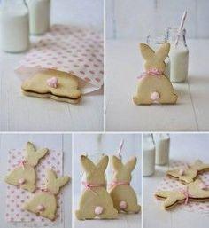Come fare biscotti coniglio ripieni - Spettegolando