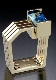14kt yellow gold design with an emerald cut Blue Topaz (approximate weight 4.5 carats).   Style # 301504AA   $3,500 Robert Triska