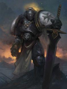 Space Marine - Warhammer 40k - Adeptus Astartes - Black Templars - Emperor's Champion