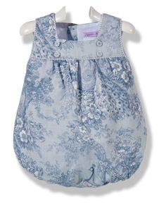 Pelele de bebé estampado azul