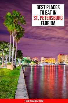 Don't let the smaller town of St. Petersburg, Florida fool you. This vibrant Gulf coast town is loaded with delicious places to eat, many things to do even if all you want to do is relax. You'll find an eclectic food scene with plenty of waterfront dining and foods from just about everywhere you can imagine. From fine dining to food trucks and street food St. Pete really has it all. #StPetersburg #FloridaTravels