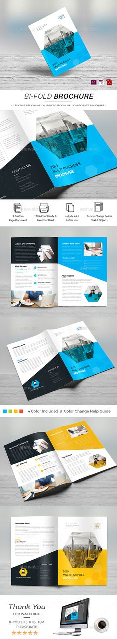 Corporate Profile Brochure template, Brochures and Print layout - corporate profile template