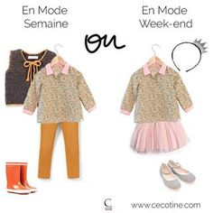 Look week-end / Look semaine pour enfants - made in France - Cécotine